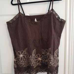 3 for $20 SALE Lace trimmed tank top, 2x